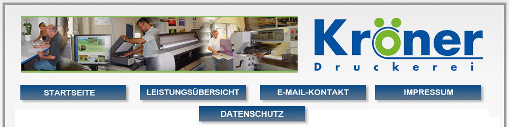 Druckerei Kröner Ludwigshafen Druckleistungen